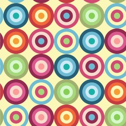 Retro Circles Wallpaper & Surface Covering