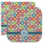 Retro Circles Facecloth / Wash Cloth (Personalized)