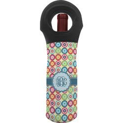 Retro Circles Wine Tote Bag (Personalized)