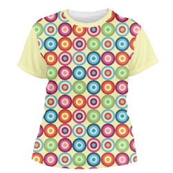 Retro Circles Women's Crew T-Shirt (Personalized)