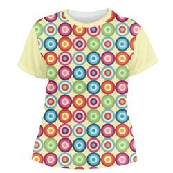 Retro Circles Women's Crew T-Shirt (Personalized)
