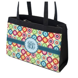Retro Circles Zippered Everyday Tote (Personalized)
