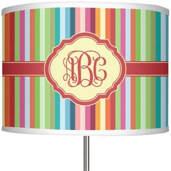 """Retro Vertical Stripes 13"""" Drum Lamp Shade (Personalized)"""