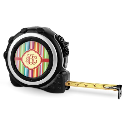 Retro Vertical Stripes Tape Measure - 16 Ft (Personalized)
