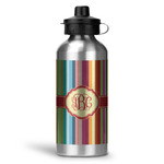 Retro Vertical Stripes Water Bottle - Aluminum - 20 oz (Personalized)