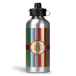 Retro Vertical Stripes Water Bottle - Aluminum - 20 oz (Personalized)