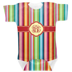 Retro Vertical Stripes Baby Bodysuit (Personalized)