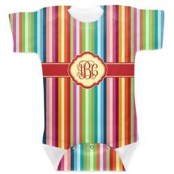 Retro Vertical Stripes Baby Bodysuit (Personalized)