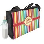 Retro Vertical Stripes Diaper Bag (Personalized)