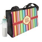 Retro Vertical Stripes Diaper Bag (Personalized)