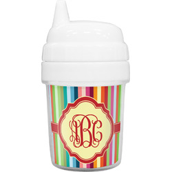 Retro Vertical Stripes Baby Sippy Cup (Personalized)