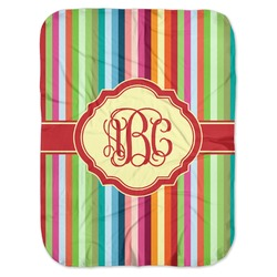 Retro Vertical Stripes Baby Swaddling Blanket (Personalized)