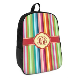 Retro Vertical Stripes Kids Backpack (Personalized)