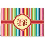 Retro Vertical Stripes Woven Mat (Personalized)