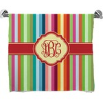 Retro Vertical Stripes Full Print Bath Towel (Personalized)