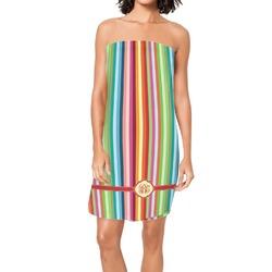 Retro Vertical Stripes Spa / Bath Wrap (Personalized)