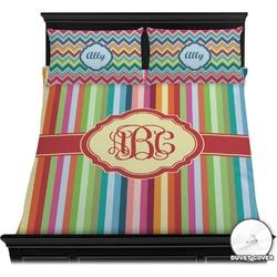 Retro Vertical Stripes Duvet Covers (Personalized)