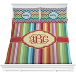 Retro Vertical Stripes Comforter Set (Personalized)