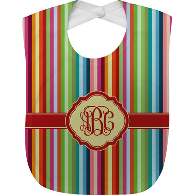 Retro Vertical Stripes Baby Bib (Personalized)
