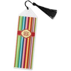 Retro Vertical Stripes Book Mark w/Tassel (Personalized)
