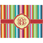 Retro Vertical Stripes Placemat (Fabric) (Personalized)