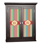 Retro Vertical Stripes Cabinet Decal - Custom Size (Personalized)
