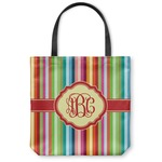 Retro Vertical Stripes Canvas Tote Bag (Personalized)