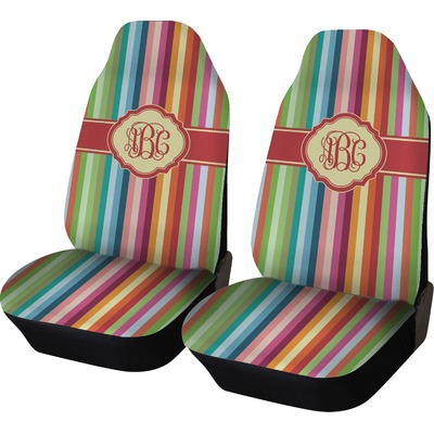 Retro Vertical Stripes Car Seat Covers (Set of Two) (Personalized)