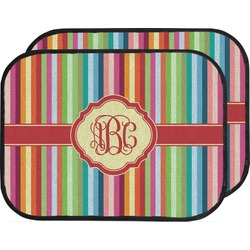 Retro Vertical Stripes Car Floor Mats (Back Seat) (Personalized)