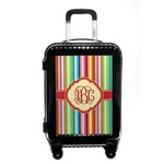 Retro Vertical Stripes Carry On Hard Shell Suitcase (Personalized)