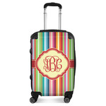 Retro Vertical Stripes Suitcase (Personalized)