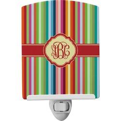 Retro Vertical Stripes Ceramic Night Light (Personalized)