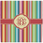 Retro Vertical Stripes Ceramic Tile Hot Pad (Personalized)