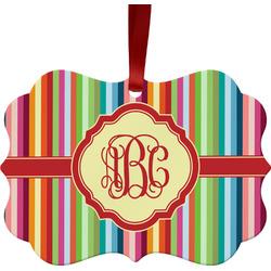Retro Vertical Stripes Ornament (Personalized)