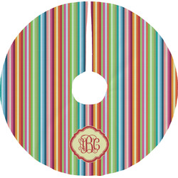 Retro Vertical Stripes Tree Skirt (Personalized)