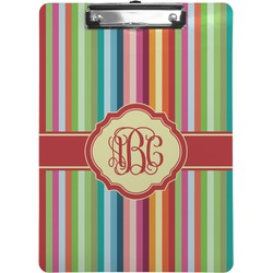 Retro Vertical Stripes Clipboard (Personalized)