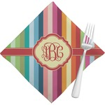 Retro Vertical Stripes Napkins (Set of 4) (Personalized)