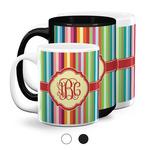 Retro Vertical Stripes Coffee Mugs (Personalized)