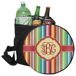 Retro Vertical Stripes Collapsible Cooler & Seat (Personalized)