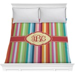 Retro Vertical Stripes Comforter (Personalized)
