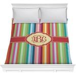 Retro Vertical Stripes Comforter (Personalized)