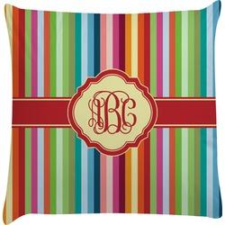 Retro Vertical Stripes Decorative Pillow Case (Personalized)