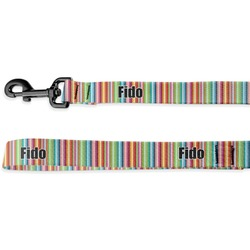 Retro Vertical Stripes Deluxe Dog Leash (Personalized)