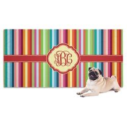 Retro Vertical Stripes Dog Towel (Personalized)