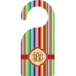 Retro Vertical Stripes Door Hanger (Personalized)