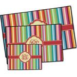 Retro Vertical Stripes Door Mat (Personalized)