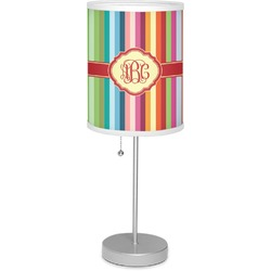 "Retro Vertical Stripes 7"" Drum Lamp with Shade (Personalized)"