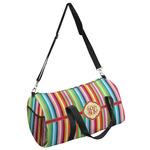 Retro Vertical Stripes Duffel Bag (Personalized)