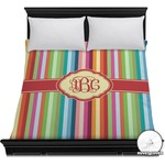 Retro Vertical Stripes Duvet Cover (Personalized)