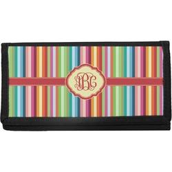 Retro Vertical Stripes Canvas Checkbook Cover (Personalized)